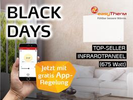 Infrarotheizung Aktion easyTherm Black Days 2020